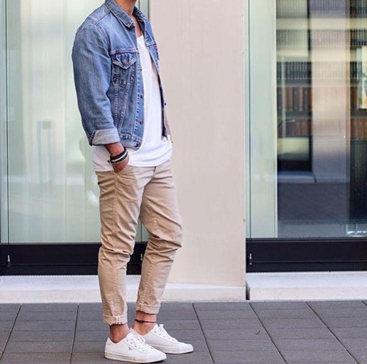 áo khoác jean nam kết hợp với gì