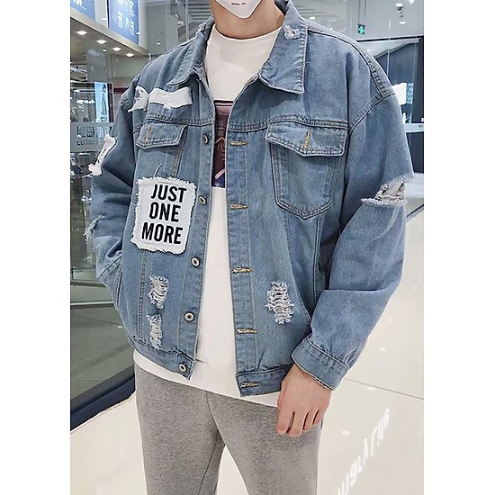 cách phối đồ với áo khoác jean form rộng