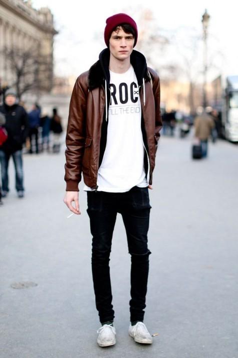 mặc đẹp với áo khoác da nam