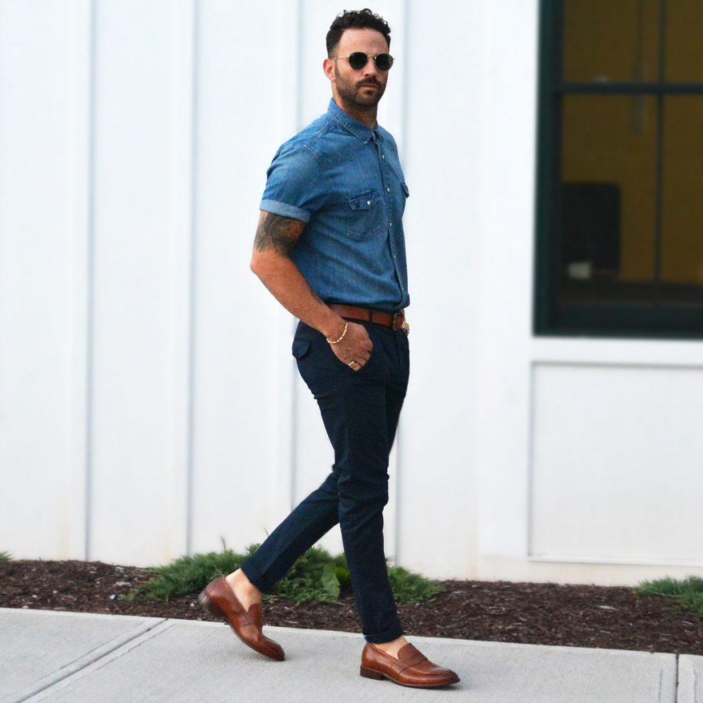 quần jean nam phối với giày gì