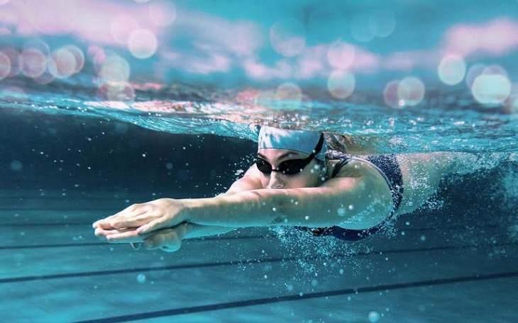 bơi lội mùa đông